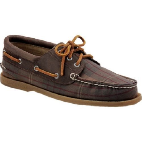 Sperry Top Sider Plaid Washed Canvas Boat Shoe