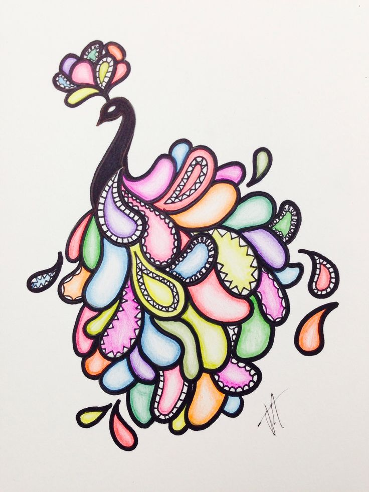 Best 25 peacock drawing ideas on pinterest kids drawing Simple drawing ideas for kids