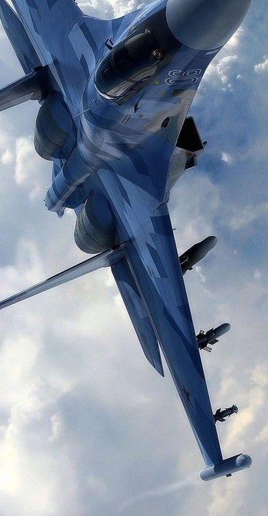 Sukhoi SU-35: A Russian single-seat, twin-engine, super-maneuverable fighter.