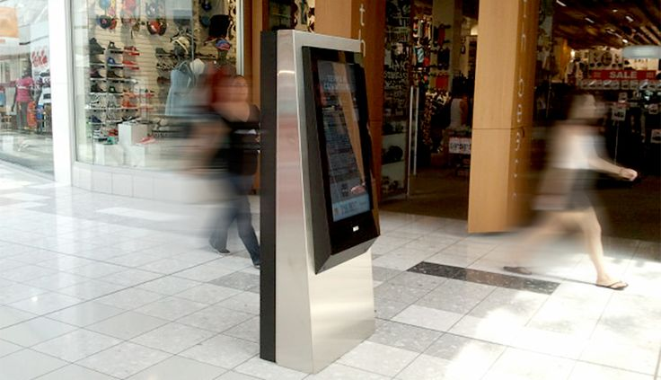 The Base is New Zealand's largest shopping centre with over 70 stores. Fingermark's Twin sided interactive stand alone kiosks. Shoppers can nominate their destination (store) and the system will dynamically plot the best route to the location, either within a single building or to other buildings.