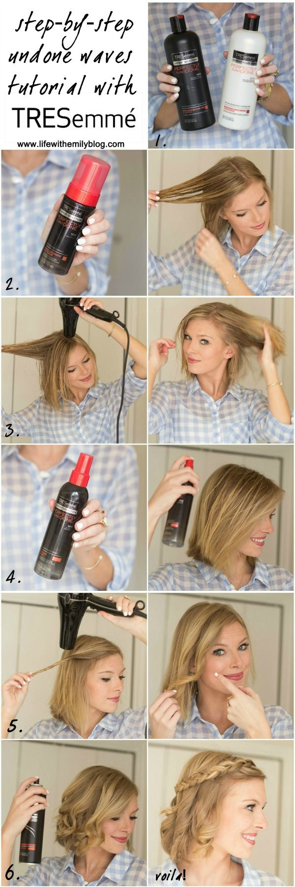 Get those perfectly undone waves with Tresemme