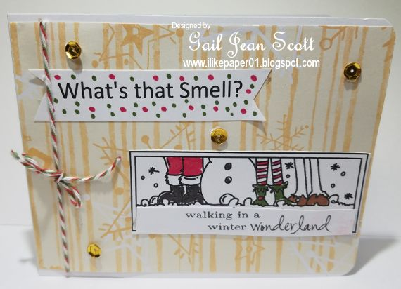Howdy Crafters - I have a funny Christmas Card - thanks for dropping by - blessings, Gail   Recipe  White cardstock for base of card  Star...