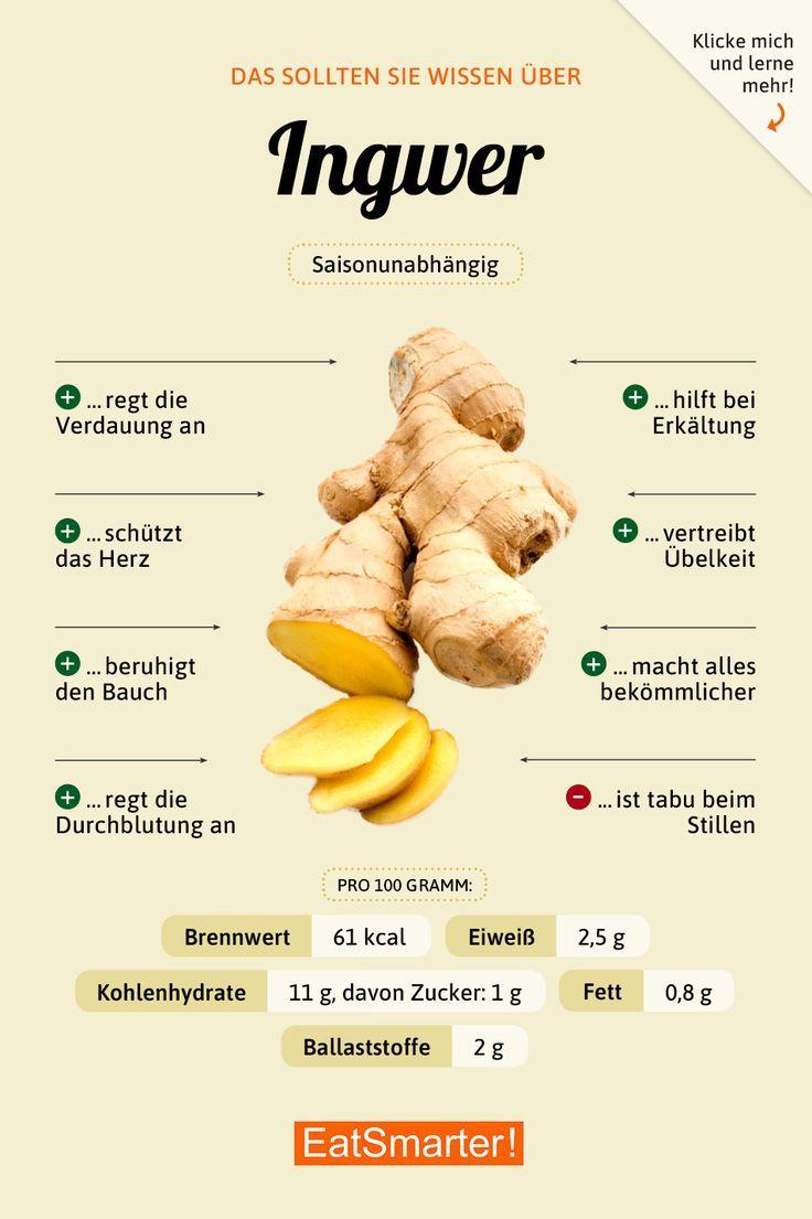 Sie sollten über Ingwer wissen eatsmarter.de # Ernährung #infografik #ing …   – Bleib gesund & munter