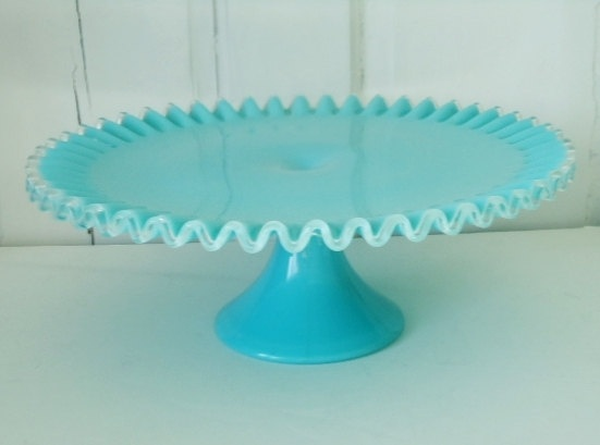 27 best images about vintage on pinterest pedestal for Colored glass cake stand