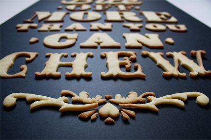 Typographie Comestible / food design, design culinaire