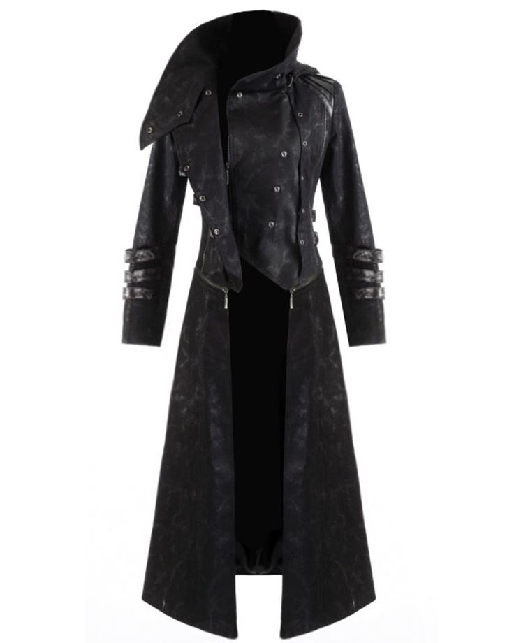 Long Black Coat Men
