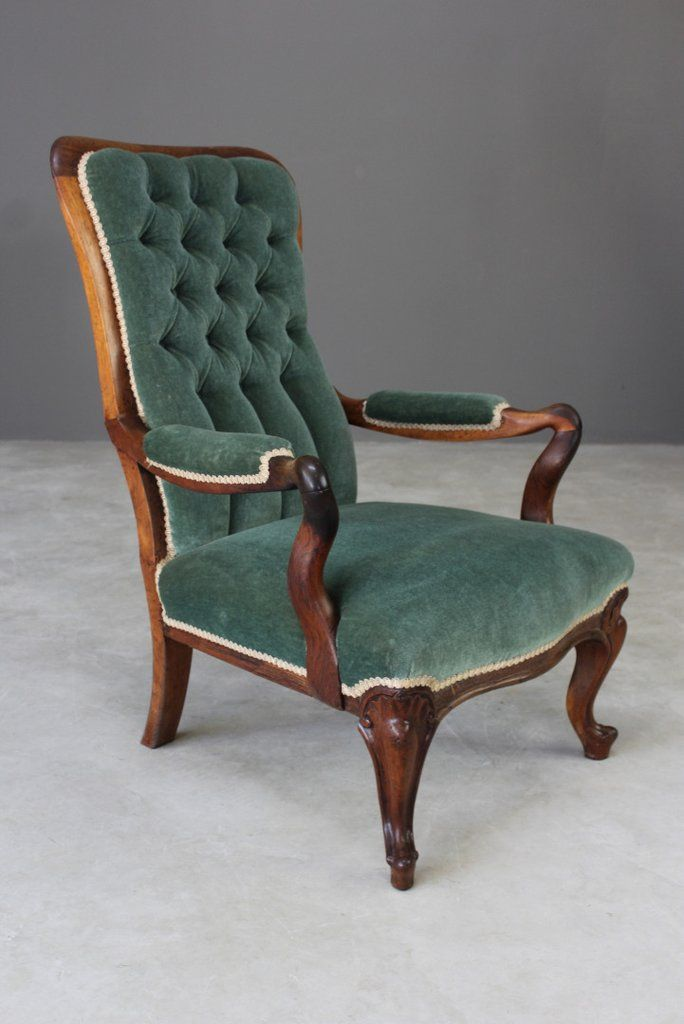 Antique Rosewood Upholstered Armchair Upholstered Arm Chair