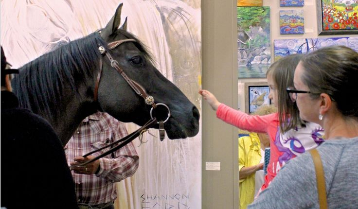 "A Magical Moment in The Lloyd Gallery for the opening of ""Is That A Horse in the Gallery?"""