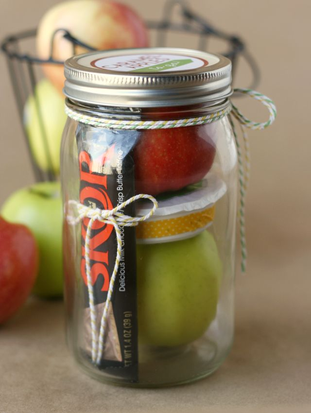 Caramel Apple Gift in a Jar by My Sisters Suitcase   Skip To My Lou