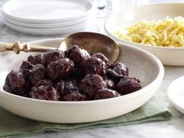 Duck Meatballs with Cherry Sauce : Recipes : Cooking Channel