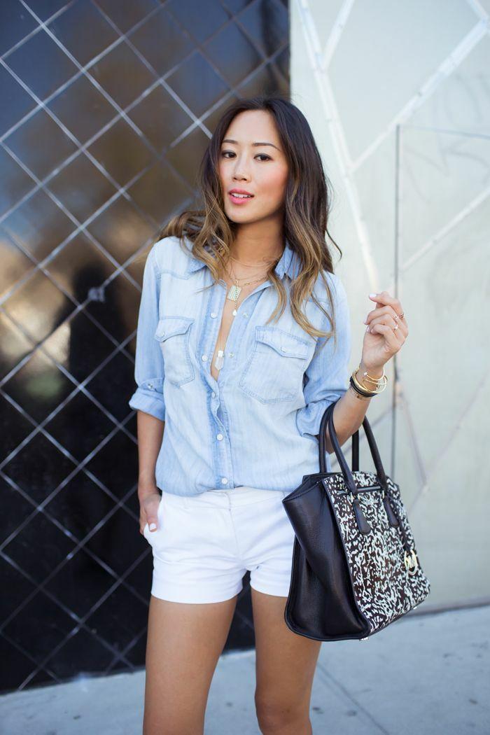 1001 Images De La Tenue Avec Chemise En Jean Mode Femme