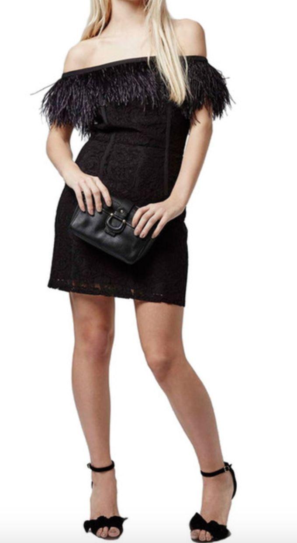 99 99 New 230 Topshop Feather Trim Lace Off The Shoulder Black Dress Sz 4 Topshop Feather Shoulder Clothing Black Dress Little Black Dress Fashion [ 1240 x 680 Pixel ]