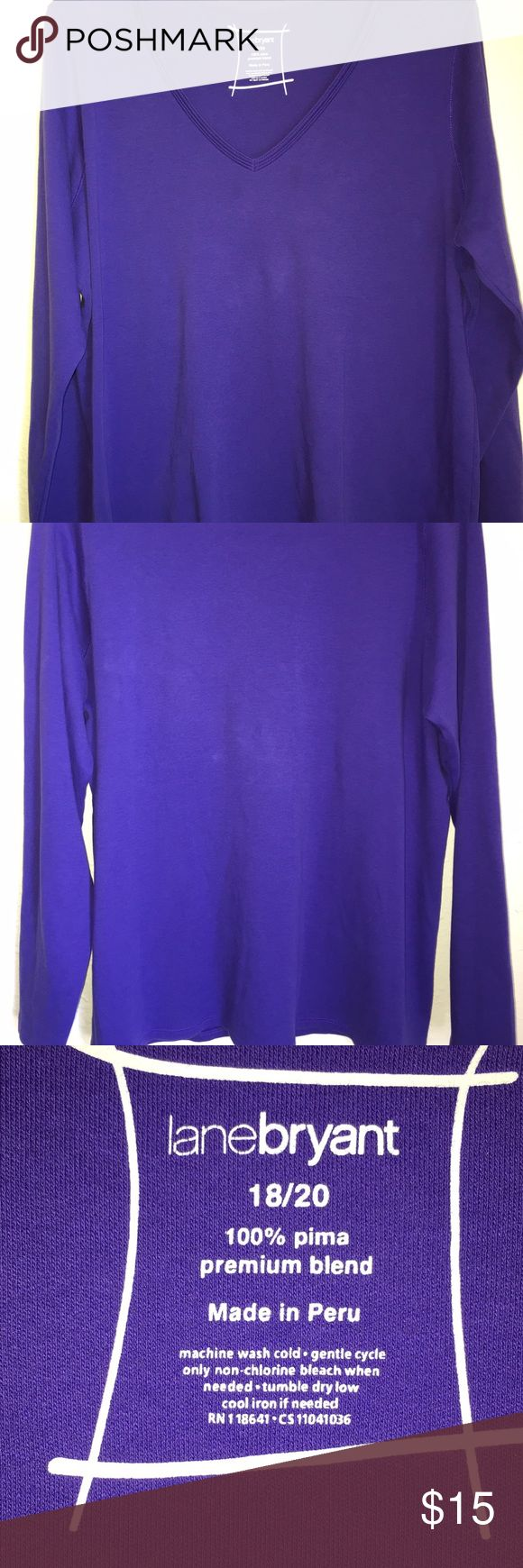Lane Bryant purple long sleeve top Nice soft long sleeve shirt..good condition Lane Bryant Tops Tees - Long Sleeve