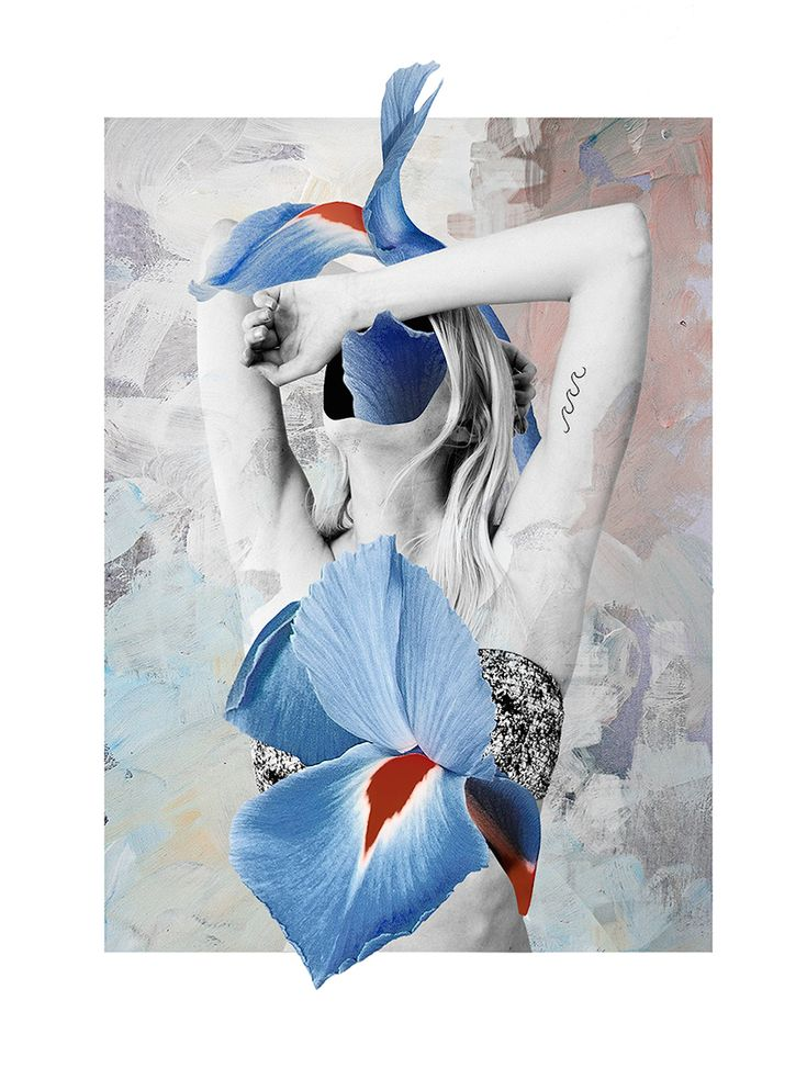 Elegant and Floral Photo-Collages