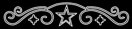 Guirnaldas rizadas sobre estrellas de cinco y ocho puntas de color blanco by http://www.lucesdenavidad.com/
