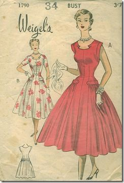 Vintage dress pattern. Beautiful neckline...