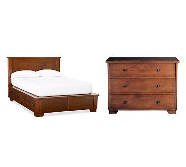 Sumatra Storage Bed & Dresser Set #potterybarn