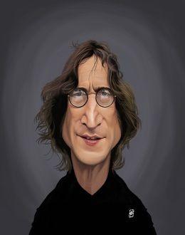 John Lennon by robart at zippi.co.uk art | decor | wall art | inspiration | caricature | home decor | idea | humor | gifts