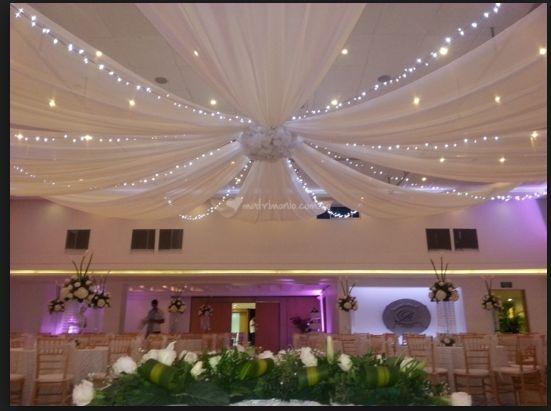 M s de 1000 ideas sobre decoraci n para techo de boda en - Telas para techos ...