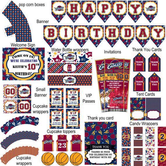 Cleveland Cavaliers basketball birthday party by DecorAtYourDoor  https://www.birthdays.durban