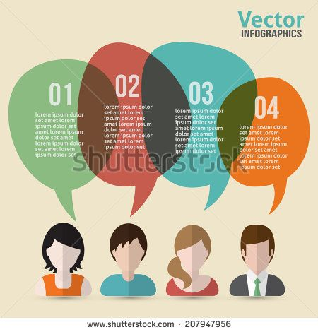 People Communications Flat Icons With Clouds Of Thought For Social Media And Network Connection Concept. Vector Illustration. - 207947956 : Shutterstock