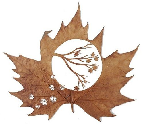 leaf carving | Leaf carving art