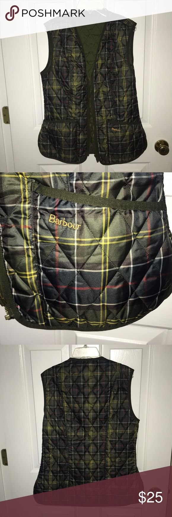 Barbour vest can be zipped in to a barbour jacket for extra warmth or can be worn alone! never been worn, perfect condition! Barbour Jackets & Coats Vests