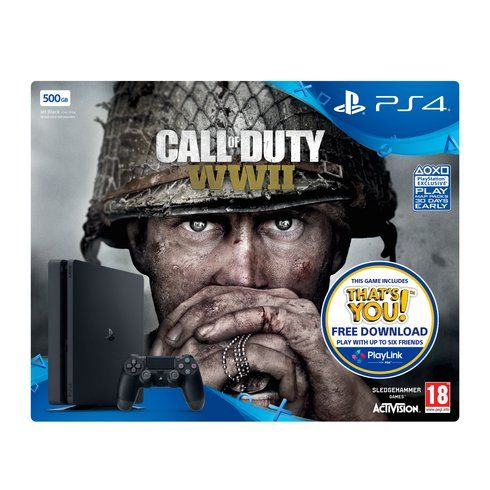 Superb PS4 500GB Call Of Duty: WWII Bundle + That's You Voucher Now At Smyths Toys UK! Buy Online Or Collect At Your Local Smyths Store! We Stock A Great Range Of Playstation 4 Consoles At Great Prices.