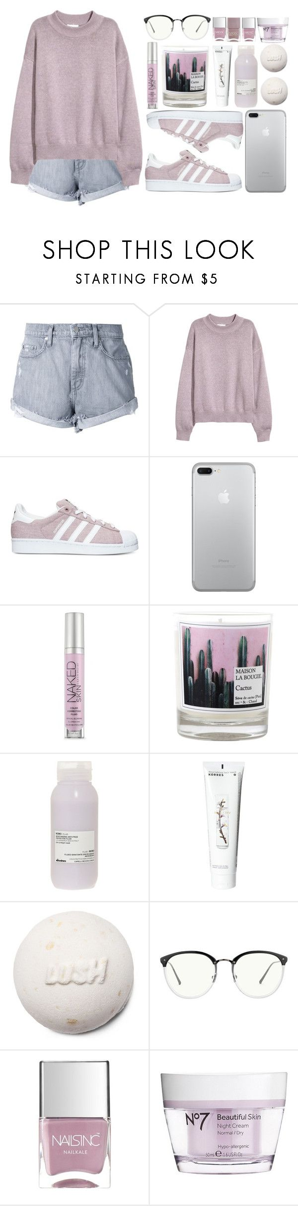 """""""Diamond Girl (Top Set 3.17.17)"""" by antisocial-vagabond ❤ liked on Polyvore featuring Nobody Denim, adidas, Urban Decay, Maison La Bougie, Davines, Korres, Linda Farrow, Nails Inc. and Boots No7"""