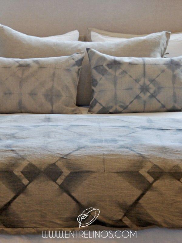 Coleccion Teñido Shibori #lino #decoracion #cama #linenbedding