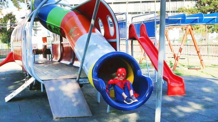 Fun Outdoor Playground for kids - Entertainment for Children Play at Amu...