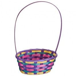 These long handled bamboo baskets are great for the whole family to enjoy Easter Egg Hunts! #Poundland #Easter