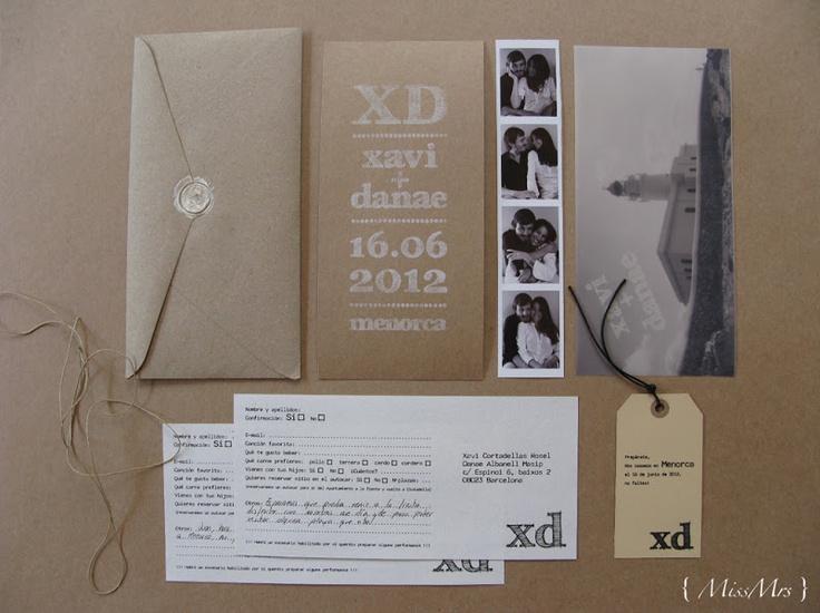 { MissMrs } mucho más que una boda: La boda de X + D: Las invitaciones