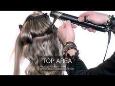 Tutorial Vanesia: onde perfette sui capelli lunghi con GHD - YouTube
