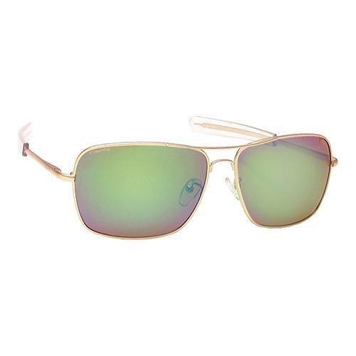 Coyote Eyewear Pilot Handmade Polarized Sunglasses Matte Gold/ Green Mirror