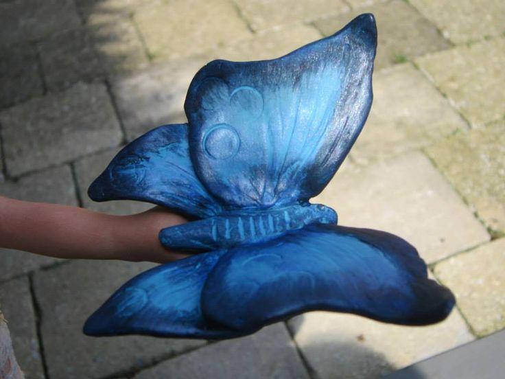 vlinder uit zelfhardende klei