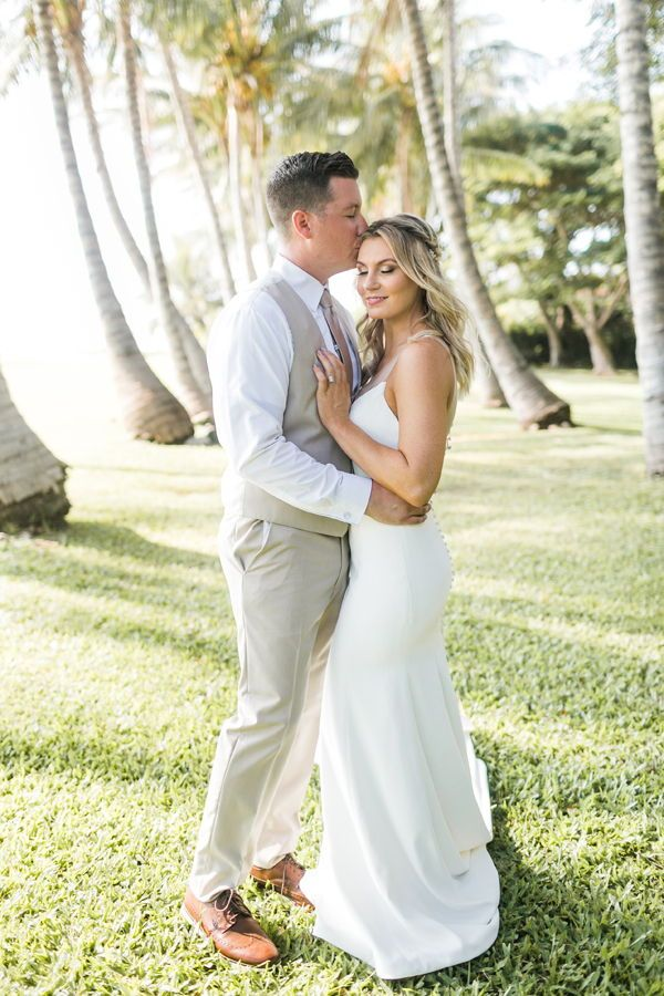How In Love Is This On Their Tropical Wedding Day Captured At A Maui Venue Olowalu Plantation House Lahaina Hawaii The Island Of