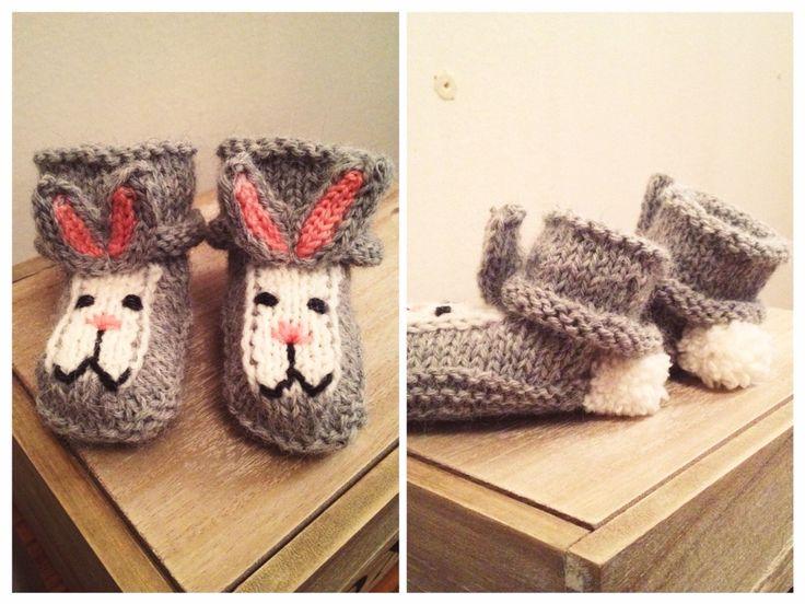 Puputossut vauvalle / Bunny booties for baby DIY