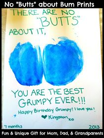 Butt print card! Great for Grandparents, Dad etc