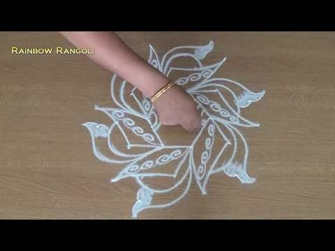 Small Rangoli designs with dots | Simple and Easy Rangoli designs| Friday Muggulu designs - YouTube