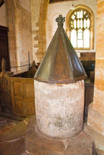 Ashby St Ledger, Northamptonshire, tub font