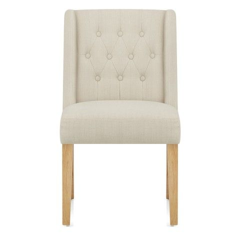 Chatsworth Oak Dining Chair Cream - Atlantic Shopping