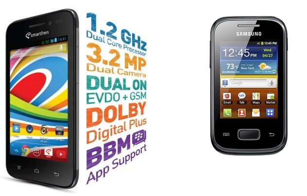 Smartfren Andromax G Vs Samsung Galaxy Y GT S5360