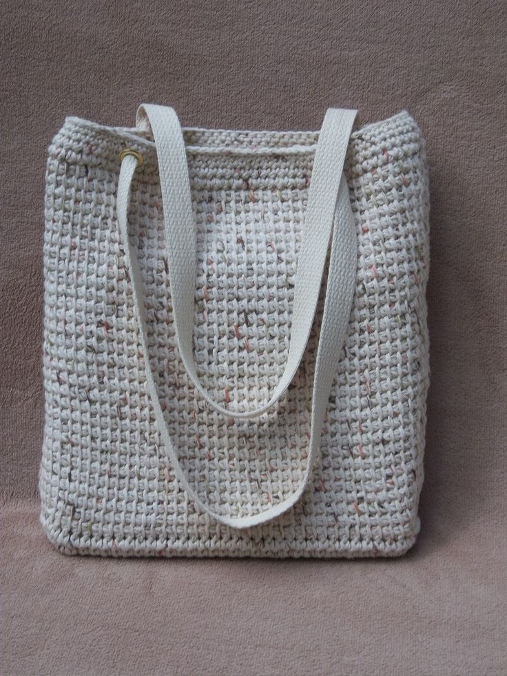 Crochet Stitches Bags : tunisain crochet tote Yarn: crochet bags & baskets Pinterest