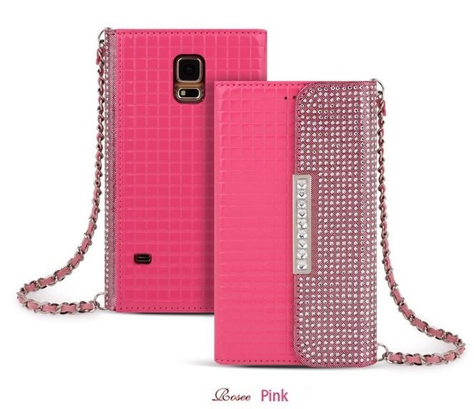ROSEE LUXURY CLUTCH SQUARE PATTERN SMARTPHONE WALLET CASE FOR GALAXY NOTE 2