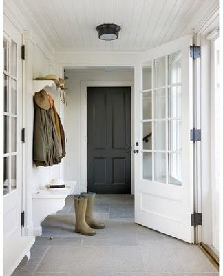 .Garage entry door from mudroom