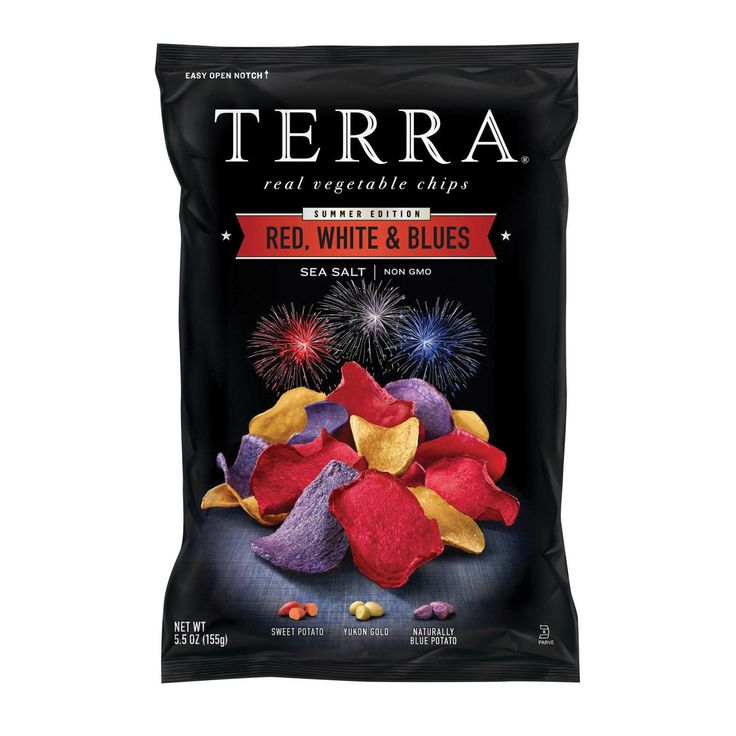 Terra Chips Chips - Red White N Blues - Case Of 12 - 5.5 Oz