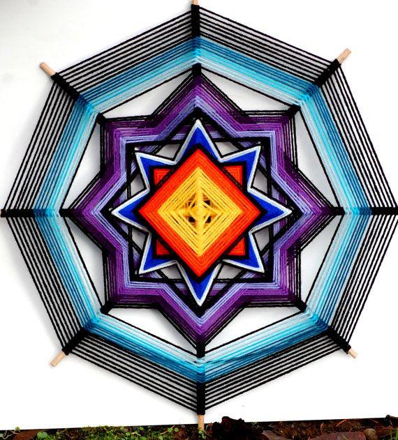 Sirena (24 inch yarn mandala/ god's eye/ ojo de dios )