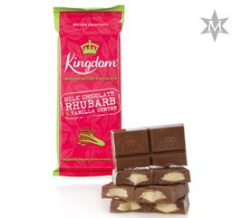 Tableta de Ciocolata Milk Chocolate Rhubarb and Vanilla #montezumas #monkeybars #ciocolata #rubarba #vanilie #dulciuri #cadouri #ideicadouri