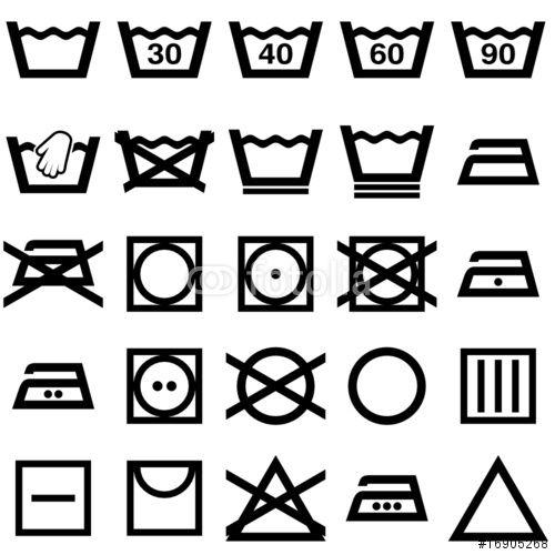 les 25 meilleures id es de la cat gorie symbole de lavage. Black Bedroom Furniture Sets. Home Design Ideas